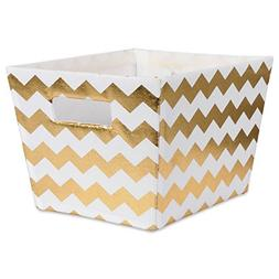 DII Metallic Fabric Trapezoid Storage Container for Nurserie
