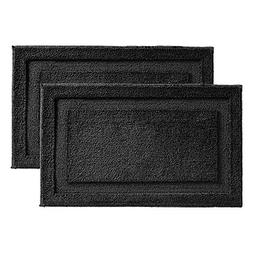 "InterDesign Microfiber Spa Bathroom Accent Rug, 34"" x 21"""
