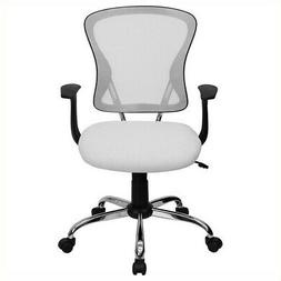 Mid-Back White Mesh Office Chair