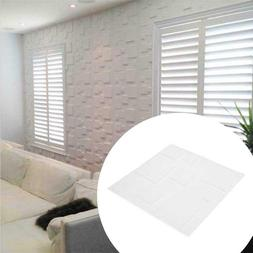 Milk White PE Foam 30x30 3D Wall Sticker Anti-collision Wate