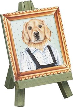 Primitives by Kathy Mini Easel Golden Retriever Home Decor