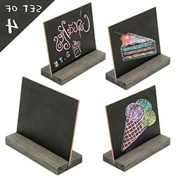 MyGift 5 X 6 Inch Mini Tabletop Chalkboard Signs with Vintag