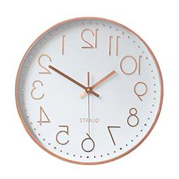 Foxtop Modern Wall Clock, Silent Non-Ticking Quartz Decorati