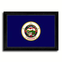 Minnesota State Flag Art Canvas Print Custom Picture Frame o