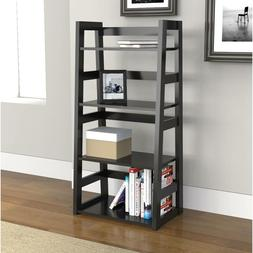 Modern 4-Tier Bookcase Home Office Living Room Storage Decor