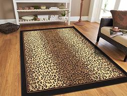 Modern Area Rugs Brown Cheetah Leopard 4x6 Rugs for Entryway