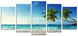 Wieco Art 5 Panels Modern Stretched and Framed Contemporary