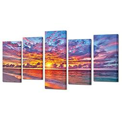 Kreative Arts - 5 Pieces Modern Canvas Painting Wall Art Col