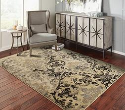 A.S Quality Rugs Modern Distressed Rug 4x6 Rugs for Entryway