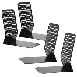 Modern Perforated Style Metal Office 4 Bookends Bookshelf Ra