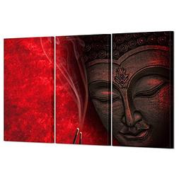 Kreative Arts Large Modern 3 Piece Stretched and Framed Gicl