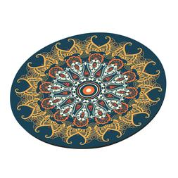 Monogrammed Round Mouse Pads Anti Slip Rubber Gaming Mousema