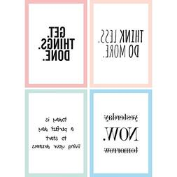 Cupcakes & Kisses Set of 4 Motivation Posters I Inspirationa