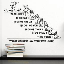 motivation wall decals quote office sticker bedroom