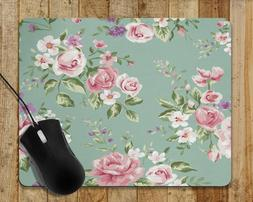 Mouse Pad Flowers Floral Roses Computer Mouse Pad Home/Offic