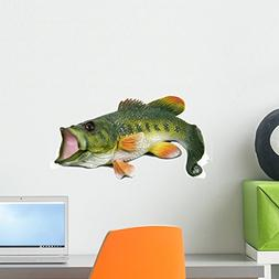 Wallmonkeys Large Mouth Bass Wall Decal Peel and Stick Graph