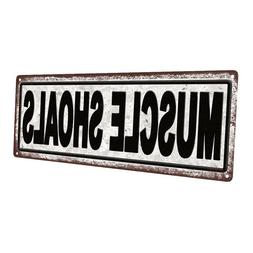 Muscle Shoals Metal Sign; Wall Decor for Home and Office