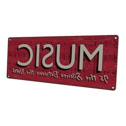 Music Metal Sign; Wall Decor for Studio or Office