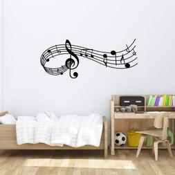 Music Song Melody Wall Decal Bedroom Office Decor Removable