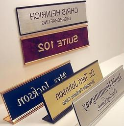 NAME PLATE for office desk or door sign / plaque - personali