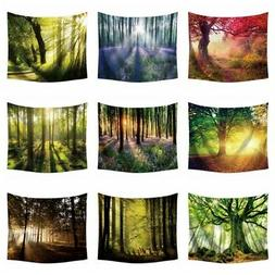 Nature Forest Tapestry Wall Hanging Scenery 3D Print Office