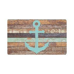 InterestPrint Nautical Anchor Rustic Old Barn Wood Indoor Ou