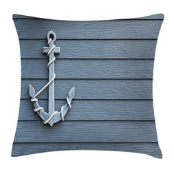 Ambesonne Nautical Decor Throw Pillow Cushion Cover by, Anch