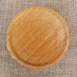 New Chinese Round Carving Wooden Teapot Vase Stand Wood Base