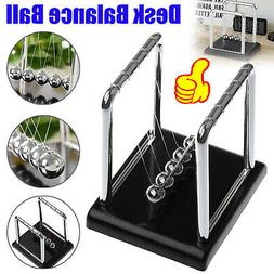 Newtons Cradle Steel Pendulum Balance Ball Science Desk Home