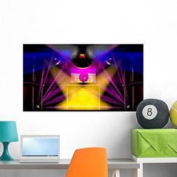 Wallmonkeys Night Club Colorful Lights and Disco Balls Wall