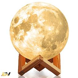 Moon Lamp | Night Light Fixture Gift for Kids, Baby Nursery,