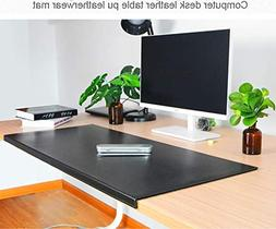 Non-Slip Soft Leather Surface Office Desk Mouse Mat Pad with