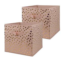 DII Non-Woven Fabric Storage Bins with Removable Bottom, Lar