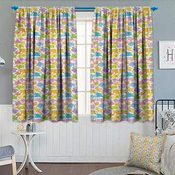Chaneyhouse Nursery Waterproof Window Curtain Abstract Afric