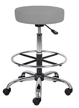 "BOSS Office Products B16240-GY Adjustable 16"" Drafting Stool"