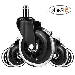 """MVPower 3"""" Office Chair Caster Wheels Replacement,Set of 5 H"""