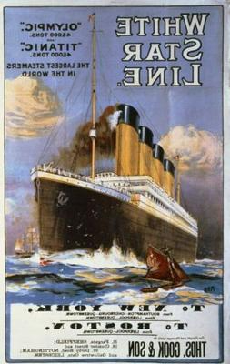 Office decor 1912 White Star Line Olympic and Titanic  trave