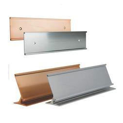 Office Desk Or Tabletop 2x8 Name Plate Holders with a Matchi