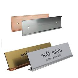 "Office Desk/Tabletop Name Plate 8"" Holder Base with a Matchi"