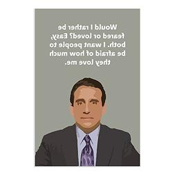 The Office Quote Poster - Would I Rather Be Feared Or Loved