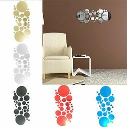 OFFICE ROUND SELF REMOVABLE 30PCS 3D WALL ADHESIVE HOME MIRR