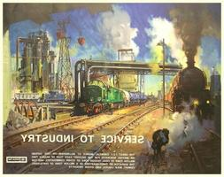 office wall art decor Service to Industry 1962 British Rail