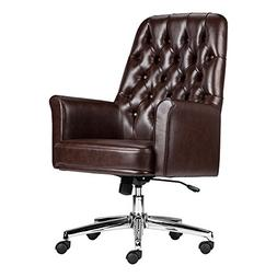 Offex OFX-447681-FF Mid-Back Traditional Tufted Leather Exec
