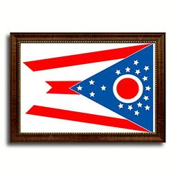 Ohio State Flag State Flag Art Canvas Print Custom Picture F