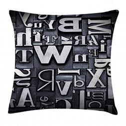 Ambesonne Old Newspaper Decor Throw Pillow Cushion Cover, Se