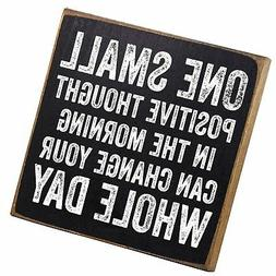 Make Em Laugh One Small Positive Thought Wooden Sign