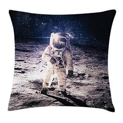 Ambesonne Outer Space Decor Throw Pillow Cushion Cover, Moon