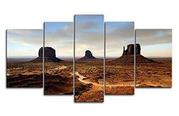 5 Panel Wall Art Painting Earth Desert Arizona Pictures Prin