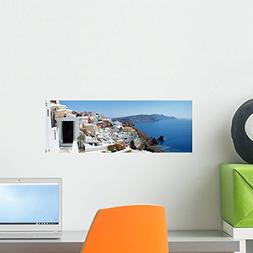 Wallmonkeys Panorama Santorini Crete Greece Wall Mural Peel