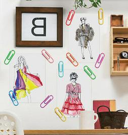 WALLIES PAPER CLIPS wall stickers 18 vinyl peel & stick deca